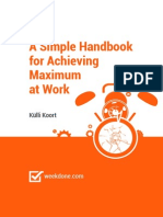 eBook - A Simple Handbook for Achieving Maximum at Work - Weekdone