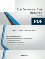 Cost Control & Cost Reduction