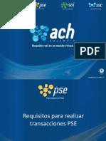 Requisitos Para Realizar Transacciones PSE