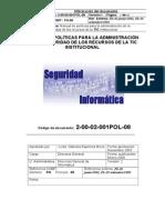 Manual de Políticas Para Administración Seguridad Recursos TIC Institucional