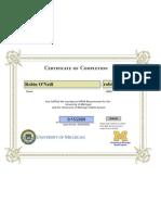 HIPAA Certificate - RO