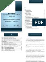 Informe Macroeconómico N 31 Mayo 2014