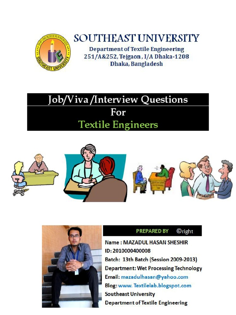 job viva interview questions for textile engineers yarn