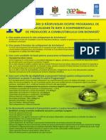 Intrebari si raspunsuri despre programul de comercializare in rate a echipamentului de procesare a biomasei