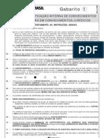 Certificação Interna de Conhecimentos Prova 01 Março 2009