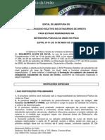 Edital de Abertura Xxv Processo Seletivo Estagio de 19 de Maio de 2014 Pi