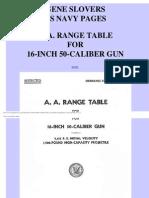 AA Range Tables for 16-Inch, 50-Cal Gun  (1944)