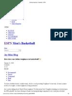 Defining Toughness in Basketball - ESPN