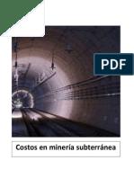 Costos de Minas Subterraneas