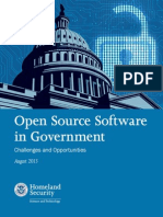Open Source Software in Government — Challenges and Opportunities