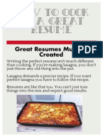 How to Cook Up a Great Resume