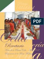 Recetario de La 'Feria de La Patata' y 'Fiesta Medieval' de Cella (2012)