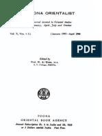 The Poona Orientalist Volume 10 (1945)