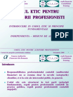CODUL ETIC Pentru Auditorii Profesionisti