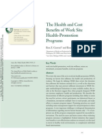 Health and Cost Benefits AWESOME ARTICLE