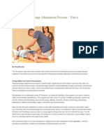 The Physical Therapy Admissions Process Part 1