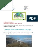 Santa Clara Students Cantabria Wind Energy Pros and Cons