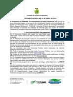 Edital Concurso Prodam Am 2014