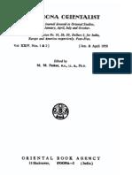 The Poona Orientalist Volume 24 (1959)