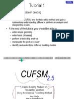 2a_cufsm Tutorial 1