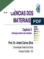 Capítulo II - Ordenação Atômica Dos Materiais