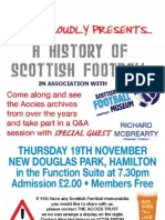 Scottish Football Museum event poster