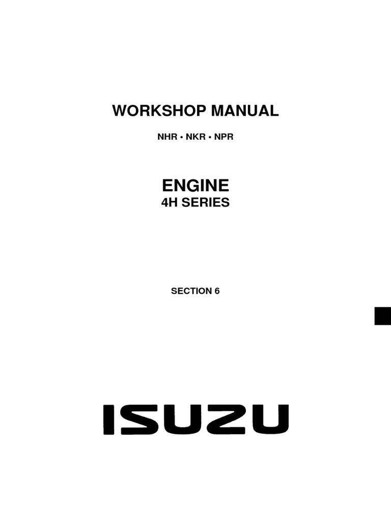 Isuzu 4hg1 Engine Manual
