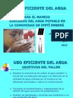 Taller Para El Manejo Del Agua Ipeti 2013