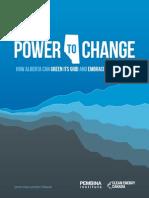 Power to Change, Pembina Institute