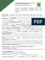 Ficha de Inscricao - Alunos - Univille Udesc e Ufsc 2013