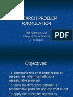 COURS Research Problem Formulation