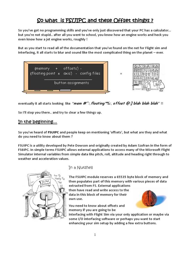 Fsuipc Help 2 | Bit | Byte
