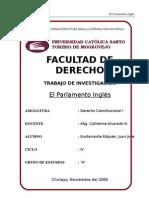Derecho Cosntitucional I - El Parlamento Inglés