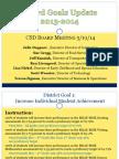 Board Presentation Goals Update 5-21-14
