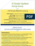 Board Presentation Goals Update 5-21-14