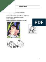 Fichas de Lenguaje Primero Básico
