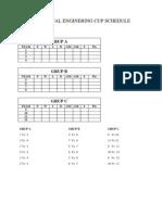 Futsal Schedule