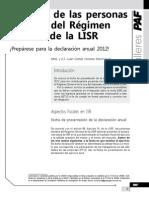 Ingresos de las personas morales del régimen general de la LISR. Prepárese para la declaración anual 2012.pdf