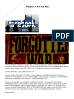 General Matthew B Ridgway's Korean War