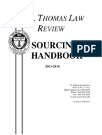 Law Review Sourcing Handbook - Fall 2013