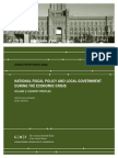 National Fiscal Policy and Local Government during the Economic Crisis, Volume 2