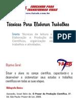 Técnicas Para Elaborar Trabalhos - SLIDES