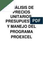 Manual Precios Unitarios y Proxcel