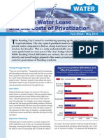 Reading's Water Lease and the Costs of Privatization