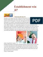 Can the Establishment Win Over Modi