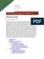 La Teoría Del Juicio de Arendt-Stanford Enciclopedia