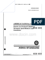 ANSI AGMA 6034-B92 Practice for Enclosed Clindrical Wormgear Speed Reducers and Gearmotors