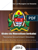Utumishi • Governtment Directory 2012 Final