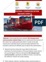 Interpersonal Communication Aboard Ships(1)