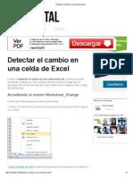 Detectar El Cambio en Una Celda de Excel